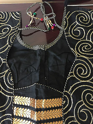 Bollywood Ready-Made Designer Blouse/Choli black gold embroidered USA (bust 36)