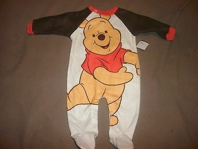 """Disney Baby """"Winnie The Pooh"""" One Piece L/S Footed Sleeper, 3-6 Month, NWOT"""