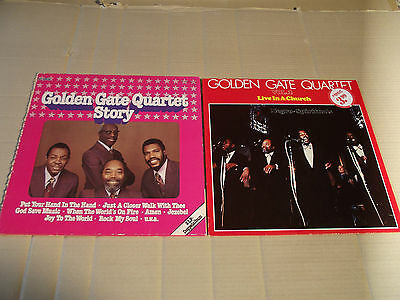 THE GOLDEN GATE QUARTET - STORY + LIVE IN A CHURCH VOL. 2 - 3 LPs