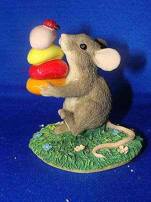 Charming Tails Gathering Treats Mouse Figurine with box