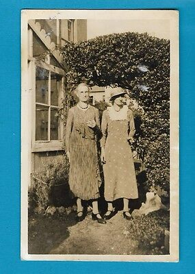 Vintage postcard - Two women with cigarettes