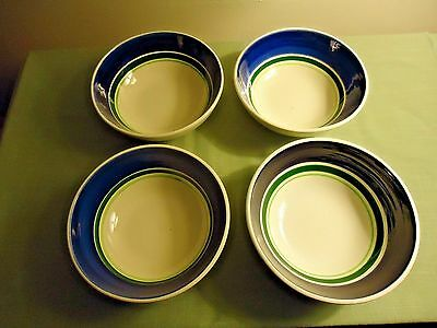4 Stangl Grape Soup Bowls Lot (6 ¼ Inches Wide & 2 ¼ Inches High)