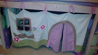 Adorble Mothercare cottage mid sleeper tent/curtain 100% cotton.