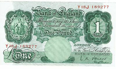 1950's  One Pound Banknote
