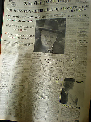 10 Old newspaper and magazines 1965 - Death of Churchill