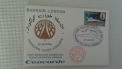 Bahrain 1976 1st Concorde Scheduled Flight to London Flight Cover BA Concorde