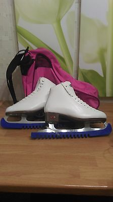 Riedell Figure Ice skates 117 Red Ribbon Girls/Womens UK 5