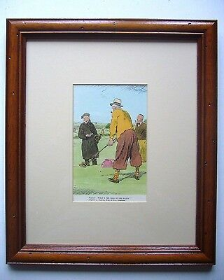 A Punch Cartoon Drawing Framed Print 1934 With Golf Theme