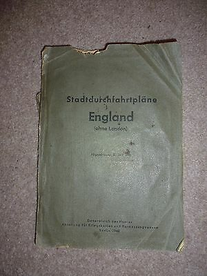 Rare, Wwii German Uk Towns Street Index Maps June 1940 Of England & Wales