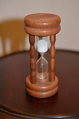 vintage mid century small hour glass kitchen egg timer 3 minute Nerco Japan wood
