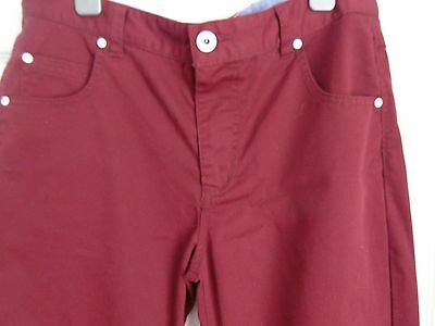 Boys SONNETI Red Chinos Trousers  Age 13-15 Years - Hardly Worn - VGC