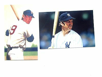 Thurman Munson, Yankee, Ted Williams, Red Sox fom A Mill Ptgs, Unposted, split
