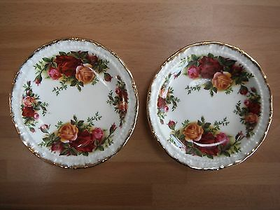ROYAL ALBERT OLD COUNTRY ROSES TWO SMALL SIDE DISHES 12cm MADE IN ENGLAND UNUSED