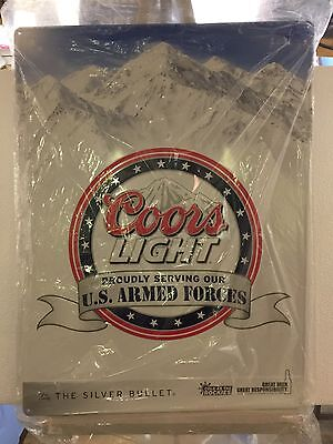 Coors Light Military Sign