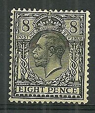 GREAT BRITAIN A mm KGV. 8d. of 1912-24