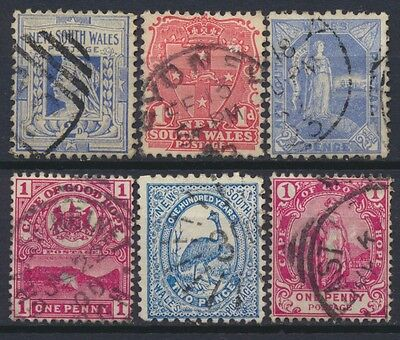 No: 47709 - AUSTRALIAN OLD STATES - LOT OF 6 OLD STAMPS - USED!