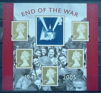2005 End Of War Unmounted Mint Miniature Sheet Mnh
