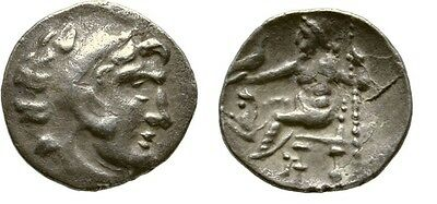 Ancient Greece Celtic after 323 BC Macedon ALEXANDER GREAT SILVER DRACHM ZEUS