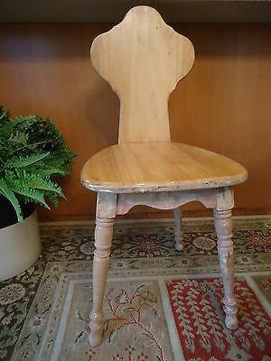 Antique Vintage Wooden Chair Unique - one of a kind - shabby chic