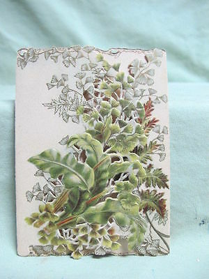 Antique Die Cut - Christmas Card with flowers  Tuck's