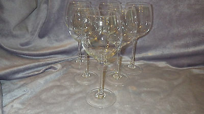6 Crystal Wine glasses by ROSENTHAL DIVINO WINE GLASSES 6 8oz pour elegant stem