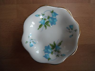 "COALPORT BONE CHINA ""HAREBELL"" 9cm DISPLAY MINIATURE FLORAL DISH MADE IN ENGLAND"