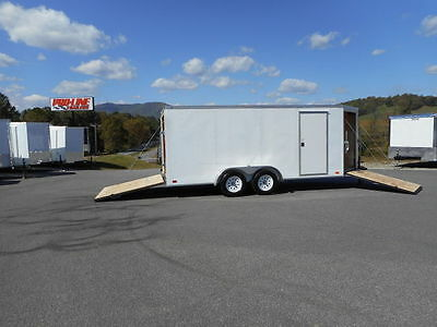 7 x 16 Enclosed Trailer Drive in Drive Out
