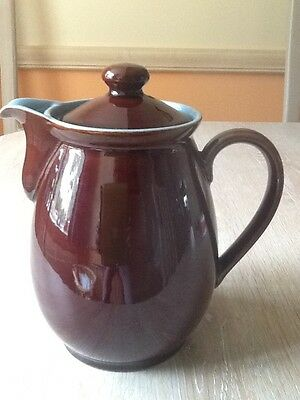 Denby Stoneware  Homestead Brown 2 1/2 Pint Coffee Pot