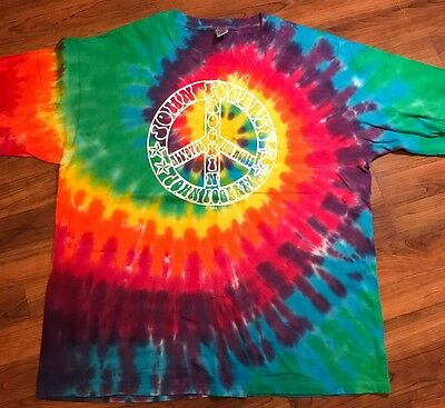 JOHN FOGERTY 2006 World Concert Tour Tie-Dye T-Shirt Size L Creedence Clearwater