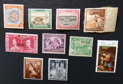 Niue mostly mint stamp selection