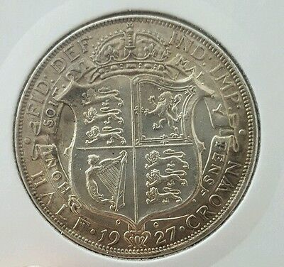 1927 Half Crown George V UNC
