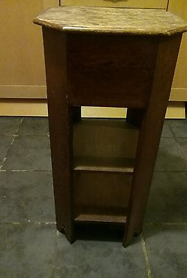 Vintage Wooden Sewing Box Table/Arts & Crafts Storage