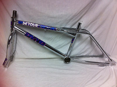 RARE Chrome 1989 DYNO DETOUR FRAME & FORKS Old School BMX Set D-Tour GT Compe