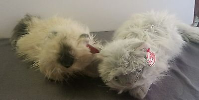 LOT OF 2 TY Kitty Cat CLASSIC Plush 2004 Long Hair w/ TAGS ANNIVERSARY TOY SOFT