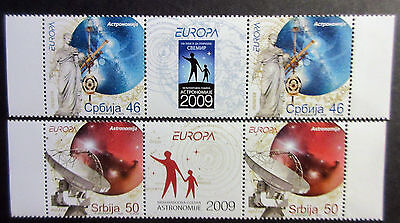 Serbia 2009 Europa-Astronomy.2 Sets With Label. MNH.