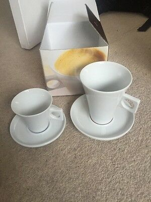 BNIB Dolce Gusto Caffe Lungo & Espresso Cup And Saucer Gift Set