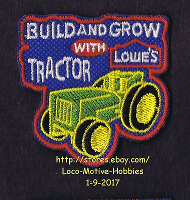 LMH PATCH Badge TRACTOR Farm Garden LOWES Build Grow Kids Clinic Green Yellow