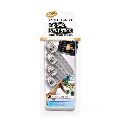 Yankee Candle Vent Sticks Car Air Freshener Pack of 4 FREE POSTAGE
