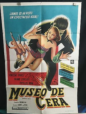 House Of Wax ORG 1953 Argentinian Movie Poster Vincent Price Horror 2D