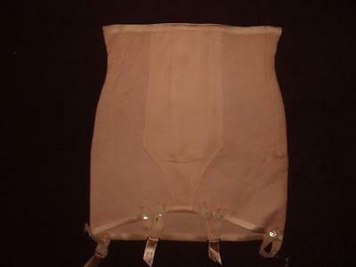 Vintage Scandale Beige  Stretchy Pull On Girdle Suspender Size 44 Fr 748504