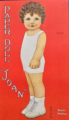 Joan and Bobby Paper Doll Book, Queen Holden Repro, 1983, 6 Pages Of Clothes