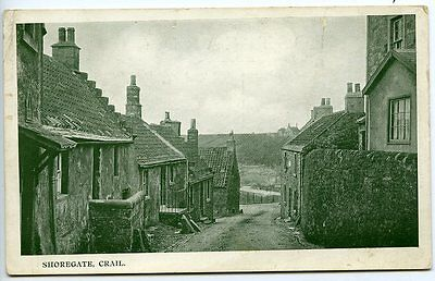CRAIL, Fife, SHOREGATE, Early Postcard, pre 1918, Publisher GALLOWAY, Crail
