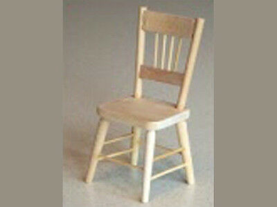 1/12 scale Dolls House Furniture    Barewood Kitchen Chair    K73