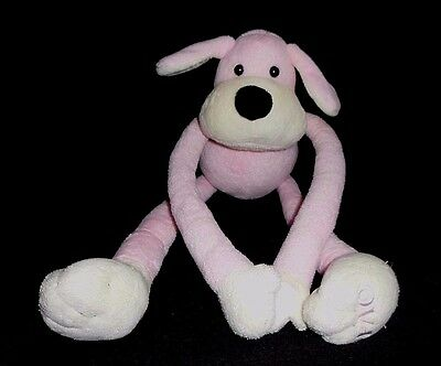 FAO Schwarz Toys R Us Pink Penelope Puppy Dog Extra Long Adjustable Arms Plush