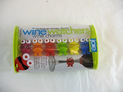 Joie wine watchers wine charms set of 6 New
