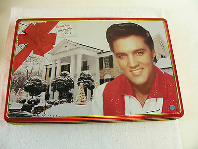 Russell Stover Happy Holidays Elvis musical tin