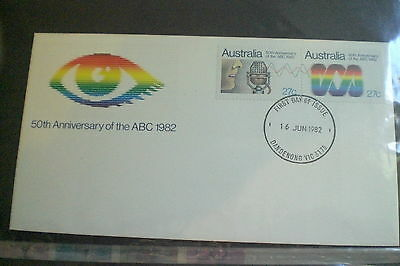 Australia Stamps-50Th Anniversary Ofthe Abc 1982 First Day Cover