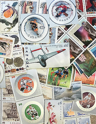 DISCOUNTED Canada Postage Lot $100 Face Value  Larger Stamp Values - Never Used!