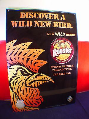 Rooster Wild Berry Snuff Metal Sign (New)