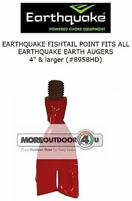 8958HD Heavy Duty Replaceable Earthquake Fishtail Point Post Hole Earth Auger